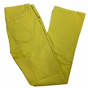J. CREW Yellow BOOTCUT Jeans  Style 89132 Size 29S